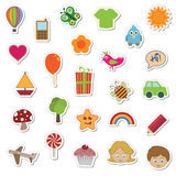 Sticker collection Stock Photos
