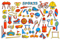 Sticker collection for sports object Royalty Free Stock Photos