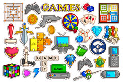 Sticker collection for video game interface object Stock Photo