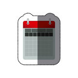 Sticker color calendar with two rings Stock Photography