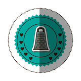 sticker color round frame with grater Stock Photo