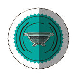 sticker color round frame with kitchen drainer Stock Photography