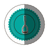 Sticker color round frame with masher Royalty Free Stock Photography