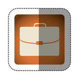 Sticker color square with executive suitcase Royalty Free Stock Images