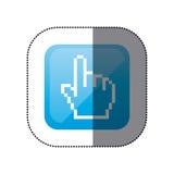 sticker color square with hand cursor icon Stock Image