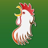 Sticker - colored stylized rooster Stock Photo