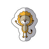 sticker colorful picture cute lion animal Royalty Free Stock Images
