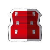 sticker colorful red tool box Stock Images