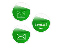 Sticker contact signs Stock Images