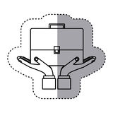 Sticker contour of travel suitcase Royalty Free Stock Photography