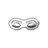 sticker contour woman with closed eyes Stock Photos