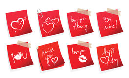 Sticker coValentine's day sticker Stock Photography