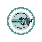 Sticker with crab. Royalty Free Stock Photo