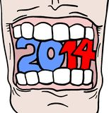 Sticker 2014. Creative design of sticker 2014 Royalty Free Stock Images