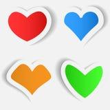 Sticker in de vorm van hart Stock Afbeeldingen