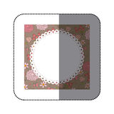 sticker decorative frame with pattern roses and butterflies desi Stock Photos