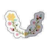sticker decorative half arch with flowerbud Stock Photos