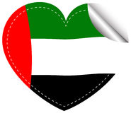 Sticker design for Arab Emirates flag Stock Images