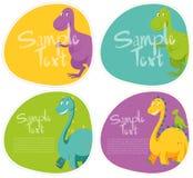 Sticker design with cute dinosaur Royalty Free Stock Photos