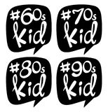 Sticker design for different generation kids. Illustration Stock Photos