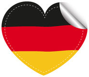 Sticker design for flag of Germany Royalty Free Stock Photography