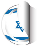 Sticker design for flag of Israel Royalty Free Stock Images