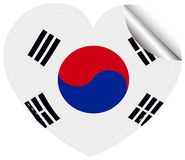 Sticker design for flag of South Korea Royalty Free Stock Photography