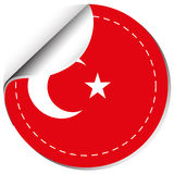 Sticker design for flag of Turkey Royalty Free Stock Photos