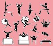 Sticker design for gymnastics Royalty Free Stock Image