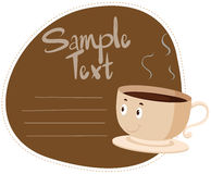 Sticker design with hot coffee. Illustration Royalty Free Stock Photo