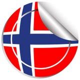 Sticker design for Norway flag. Illustration Stock Image