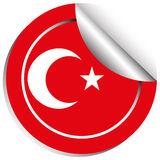 Sticker design for Turkey flag Royalty Free Stock Photography