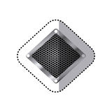 Sticker diamond metallic frame with grill perforated Royalty Free Stock Images
