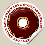 Sticker with donut. Stock Image