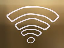 Sticker of doodle wi-fi symbol stock photography