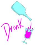 Sticker drink Stock Photo