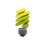Sticker eco bulb icon Royalty Free Stock Image
