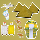 Sticker Egyptian pyramids Royalty Free Stock Images