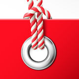 Grommet with rope Royalty Free Stock Photos