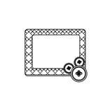 Sticker figures square framework icon. Illustraction design Stock Photo