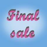 Sticker final sale. Sticker final sale on blue background Royalty Free Stock Image