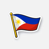 Sticker flag of the Philippines royalty free illustration