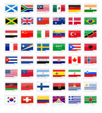 Sticker flags Stock Photos