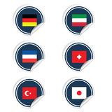 Sticker of flags color vector Royalty Free Stock Photography