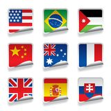 Sticker flags Royalty Free Stock Photo