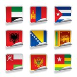 Sticker flags Stock Photo