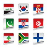Sticker flags Royalty Free Stock Photos