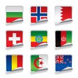 Sticker flags Stock Photos