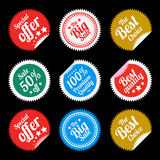 Sticker in flat style Royalty Free Stock Photos