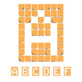 Sticker font alphabet. Sticky Notes. EPS8 Royalty Free Stock Image